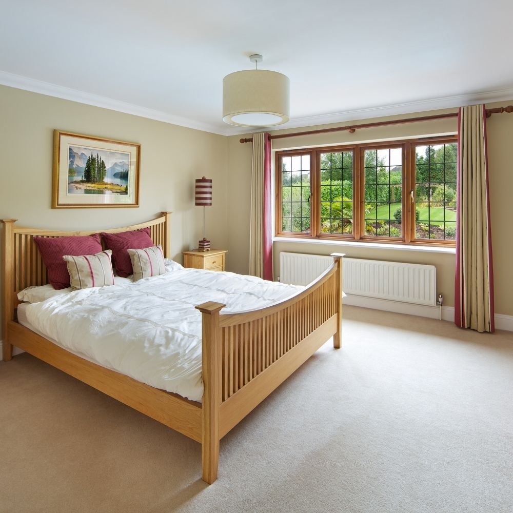 Classic Country Bedroom With Natural Wood
