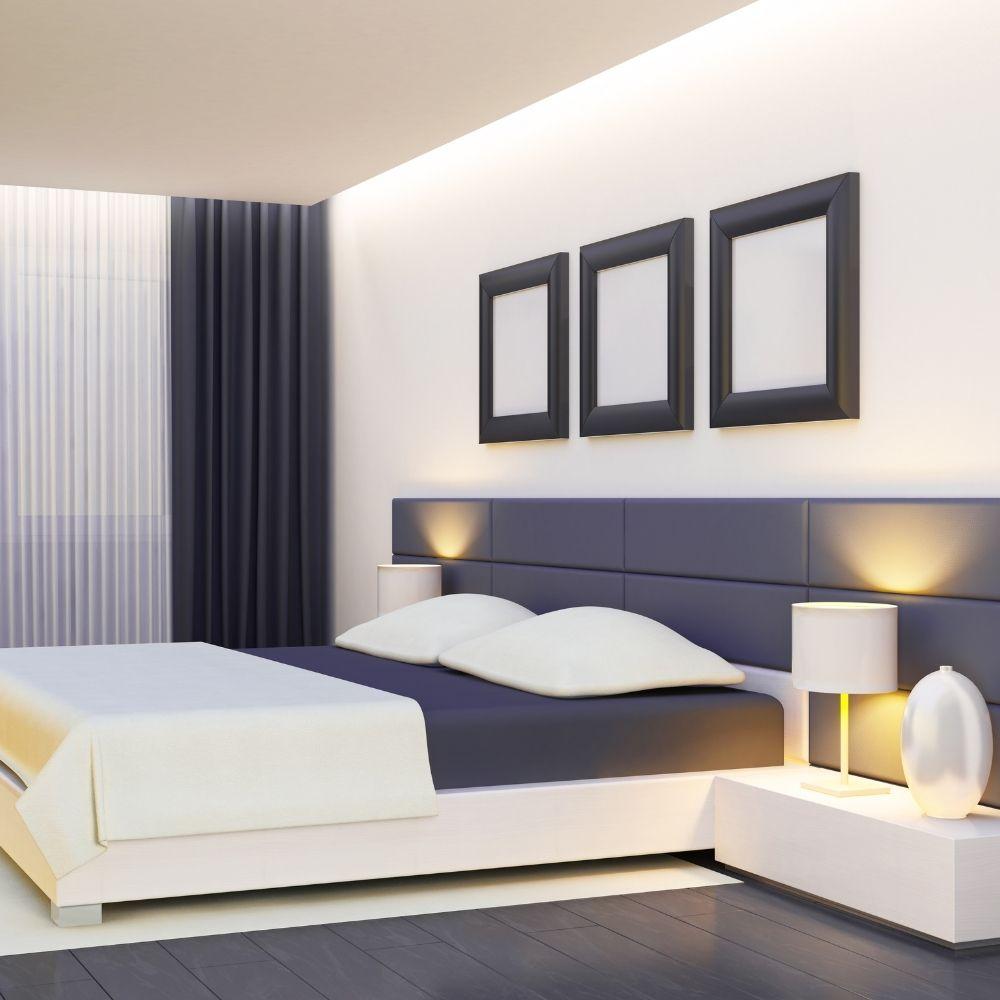 White And Gray Minimalist Bedroom