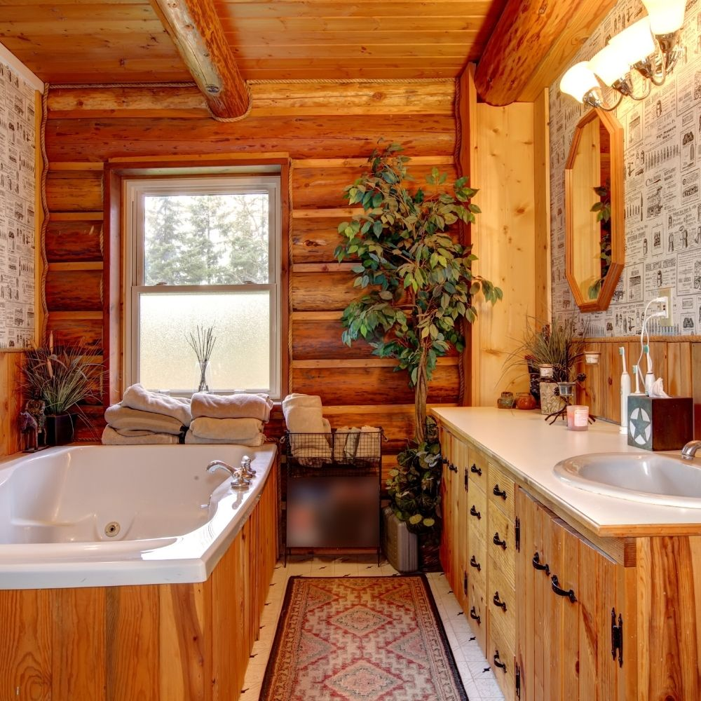 Cabin Style Country Bathroom