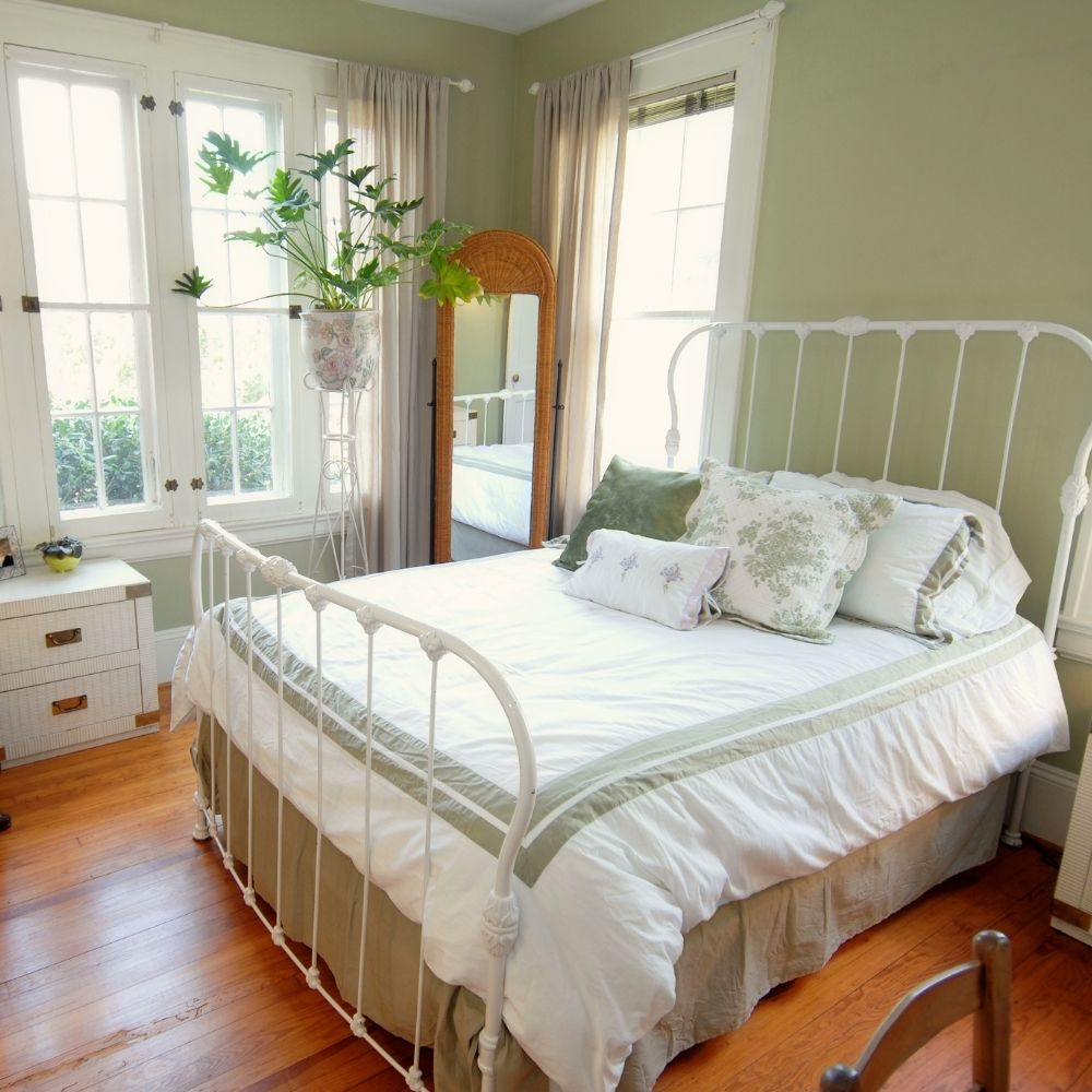 Calm Green Traditional Country Bedroom
