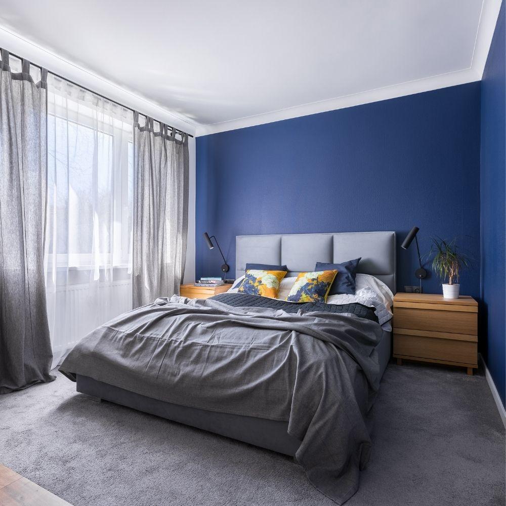 Midnight Blue Bedroom