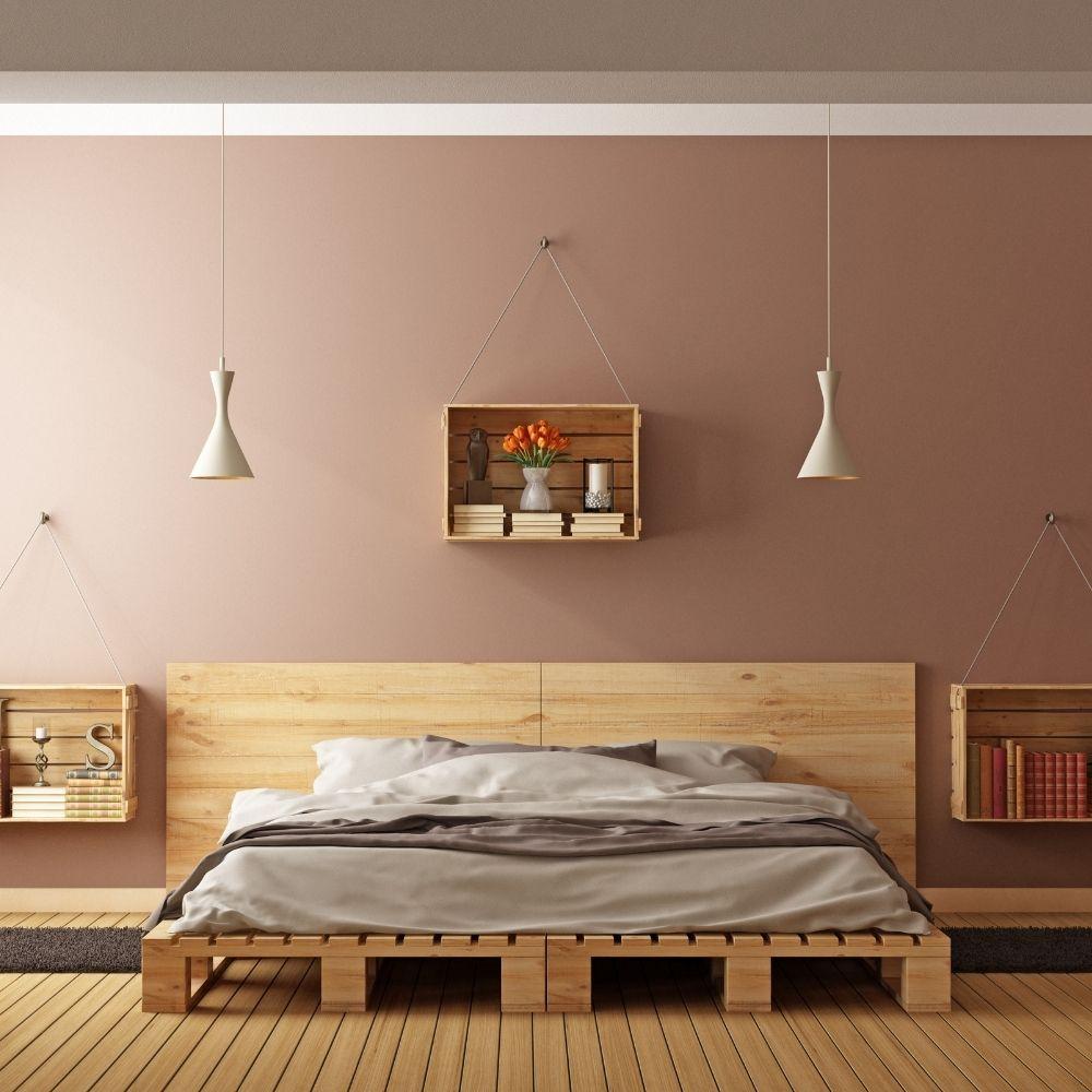 Wood Bedroom with Wood Flooring