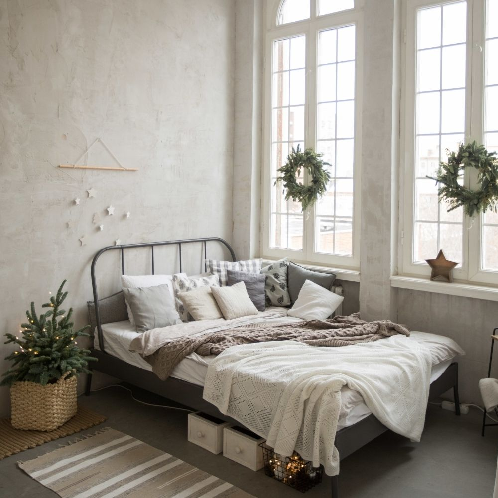 Rustic White Traditional Bedroom