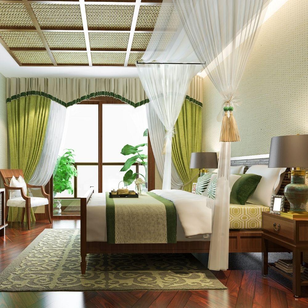 Tropical Mint Bedroom