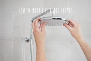 How to install electric shower